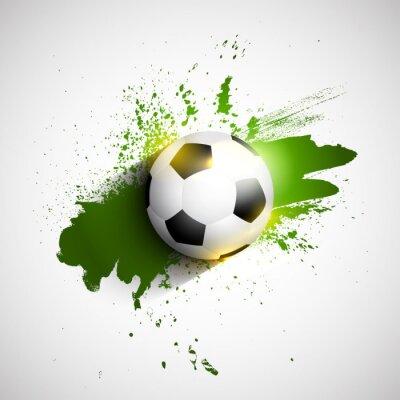 Плакат Гранж футбол / футбольный мяч фон