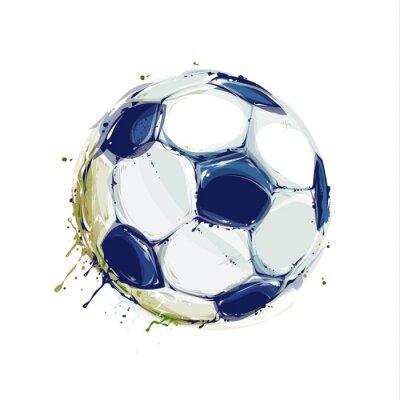 Плакат Гранж футбольный мяч