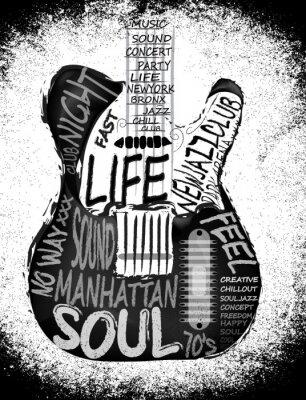 Плакат Гитара вектор графический дизайн