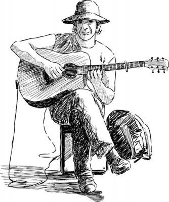 Плакат гитарист