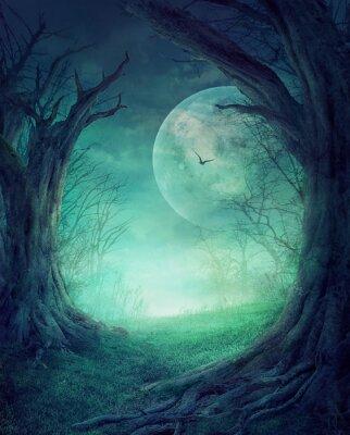 Плакат Halloween Spooky Forest