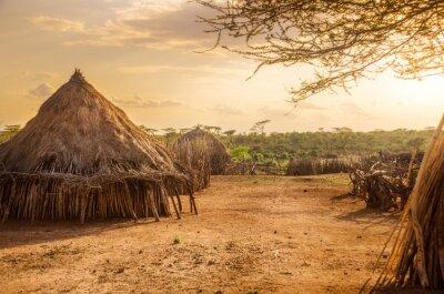 Плакат Hamer village near Turmi, Ethiopia
