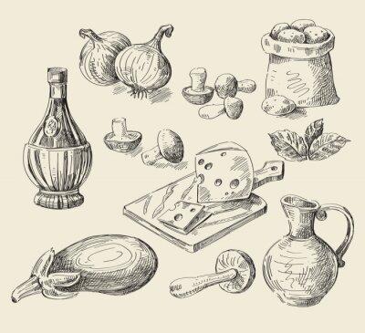 Плакат hand drawn food sketch