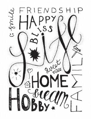 Плакат Happy Life маркировочного
