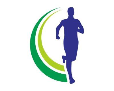 Плакат health run logo