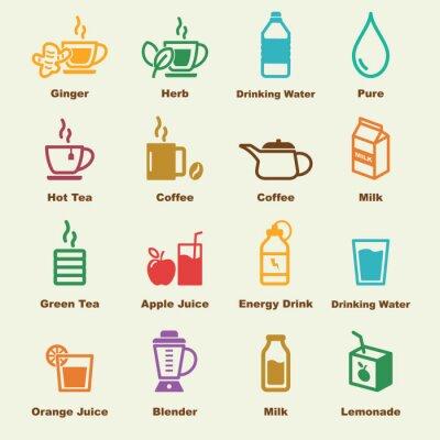 Плакат здоровые элементы напитка