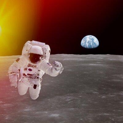 Плакат Высокое качество изоляции композитный астронавта в космос; элементы