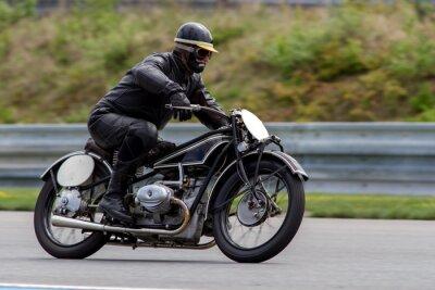 Плакат исторический мотоцикл в Масарика г. Брно