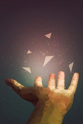 Плакат Люди более мощные, чем они думают, ваша рука может излечить или сделать объект летать в воздухе