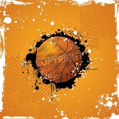 Плакат Иллюстрация баскетбол на абстрактном фоне шероховатый