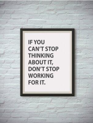 Плакат Вдохновенный мотивации цитаты на фоторамку.