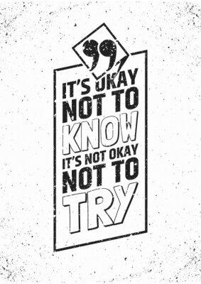 Плакат Вдохновенный цитаты в рамке на фоне шероховатый. Векторная иллюстрация.
