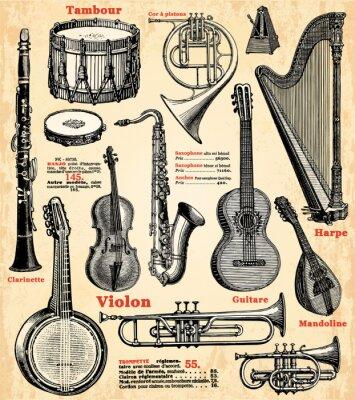 Плакат Инструменты де Musique