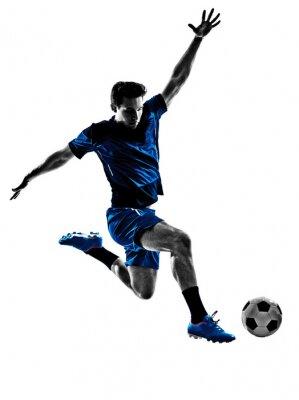 Плакат итальянский футболист человек силуэт