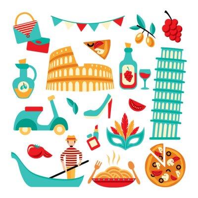 Плакат Италия украшения набор