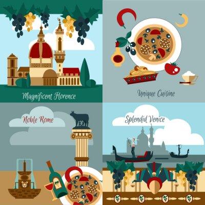 Плакат Италия Туристический набор