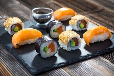 Плакат Японские суши из морепродуктов