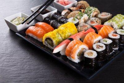 Плакат Японский набор суши из морепродуктов