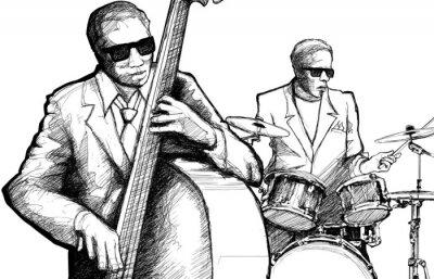 Плакат джаз-бэнд