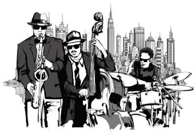 Плакат Джаз-банд в Нью-Йорке