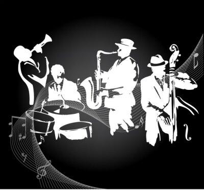 Плакат Джазовый концерт черный фон