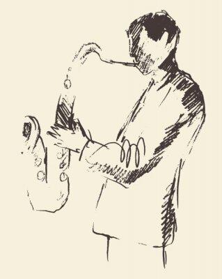 Плакат Джаз плакат саксофон музыку Consept