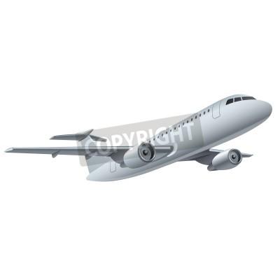 Плакат реактивный самолет