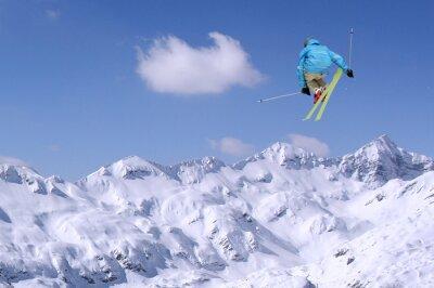 Плакат Прыжки лыжник