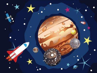 Плакат Юпитер Планета