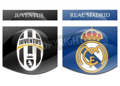 Плакат Ювентус против Реал Мадрид