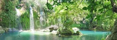 Плакат Водопад Куршунлу панорама национального парка индейки