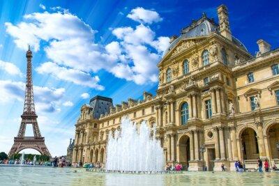Плакат Le Louvre, Париж, Франция