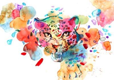 Плакат леопард