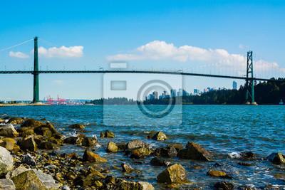 Плакат Lions Gate Bridge in Vancouver, Canada