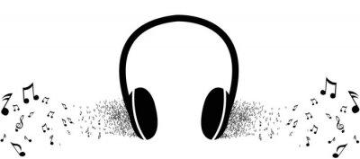 Плакат Слушать музыку