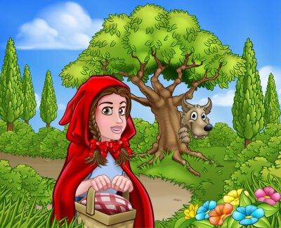 Плакат Маленькая Красная Шапочка и Вольная Сцена