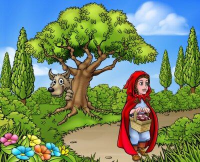 Плакат Маленькая Красная Шапочка
