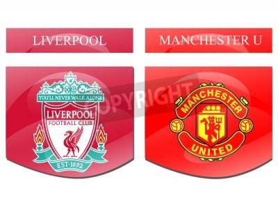 Плакат Ливерпуль против Манчестер U