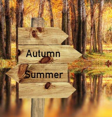 Плакат llego эль otoño