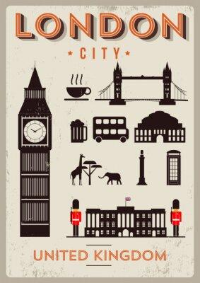 Плакат Лондон-Сити Дизайн плаката