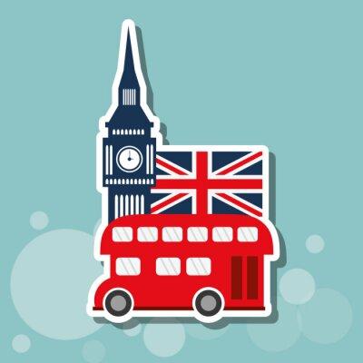Плакат лондон дизайн иконок