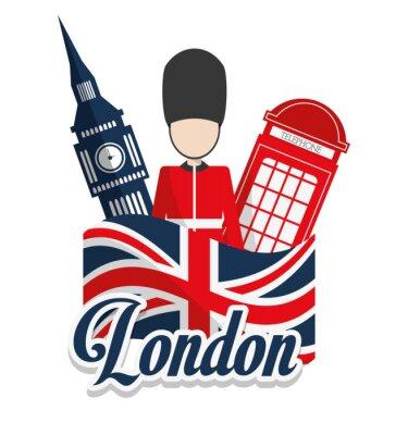 Плакат Лондон дизайн достопримечательности