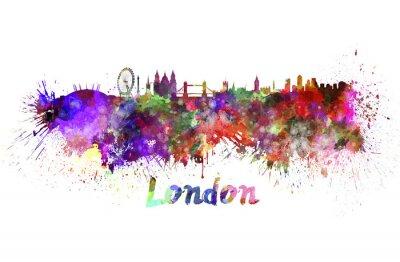 Плакат Лондонский горизонт акварелью