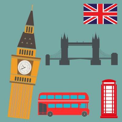 Плакат Лондон Векторная графика