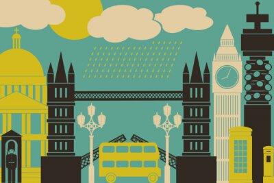 Плакат Лондон Посмотреть