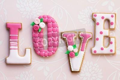 Плакат Любовь печенье