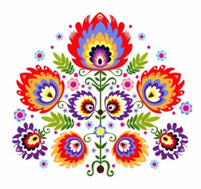 Плакат ludowy Wzor - Kwiaty