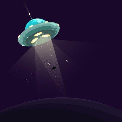 Плакат Человек похищен НЛО