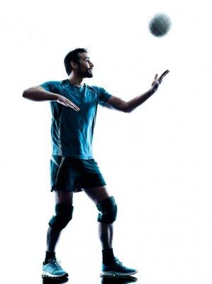 Плакат человек силуэт волейбол
