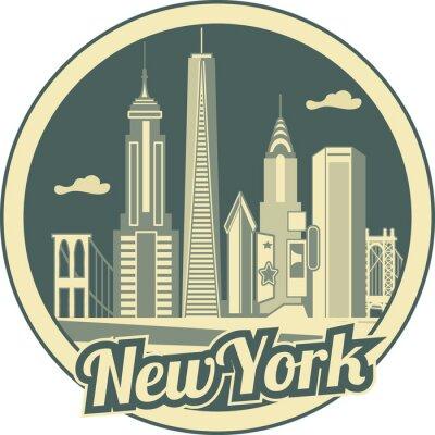 Плакат Манхэттена горизонты